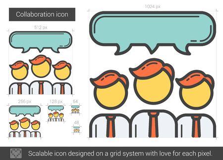 scalable: Collaboration line icon. Illustration