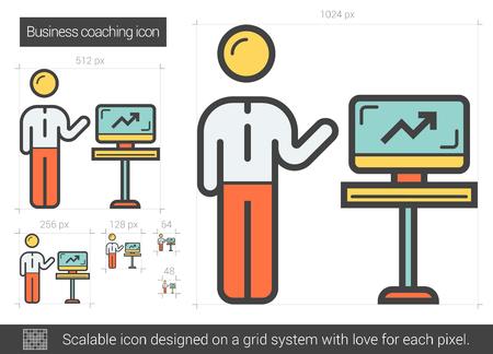 Business coaching line icon. Stock fotó - 80944543