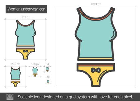 Woman underwear line icon.