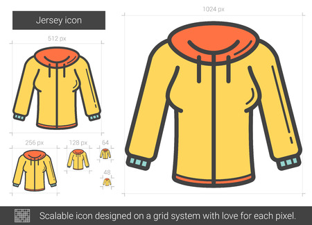 Jersey line icon. Illustration