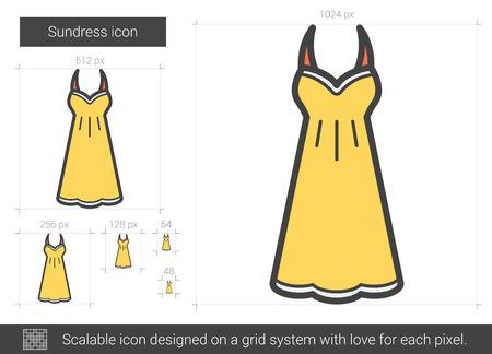 Sundress line icon. Illustration