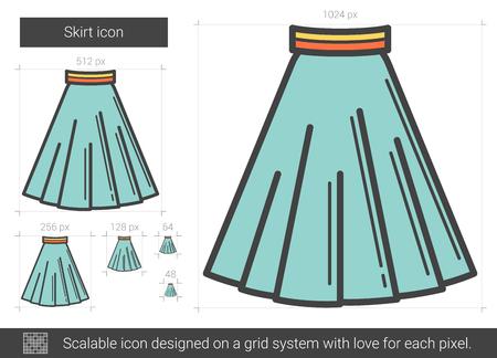 Skirt line icon.