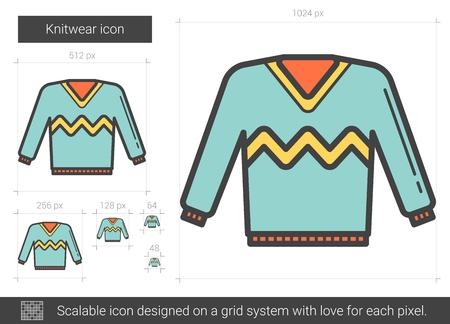 Knitwear line icon.