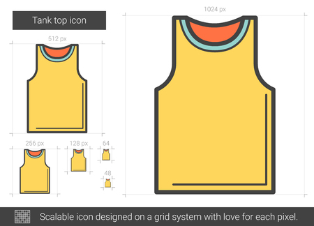 scalable: Tank top line icon.