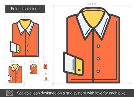 Folded shirt line icon.