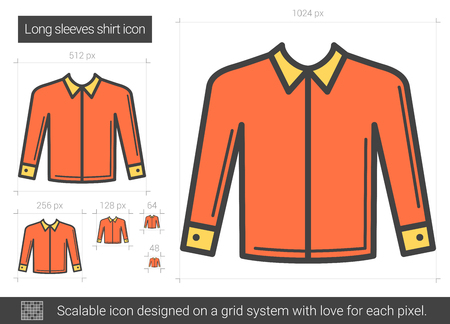 Long sleeves shirt line icon.