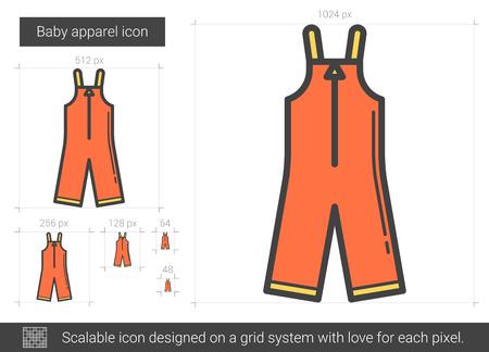 Baby apparel line icon.