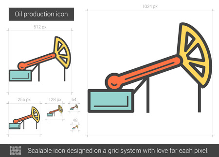 Oil production line icon.