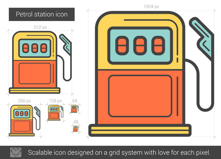 Petrol station line icon. Illustration