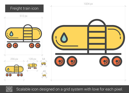 Freight train line icon.