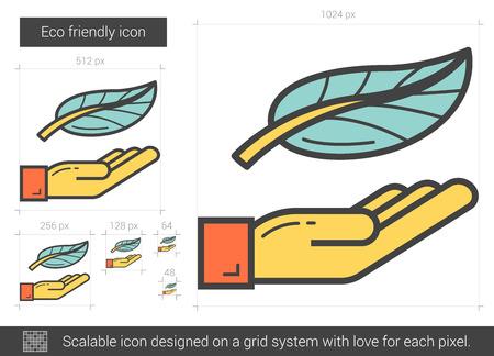 Eco friendly line icon. Illusztráció