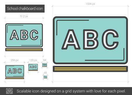 scalable: School chalkboard line icon.