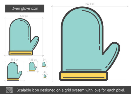 Oven glove line icon.