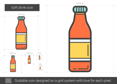 beers: Soft drink line icon.
