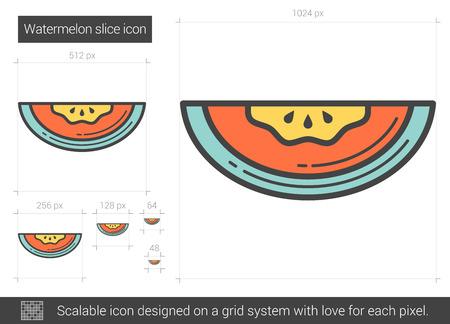 scalable: Watermelon line icon.