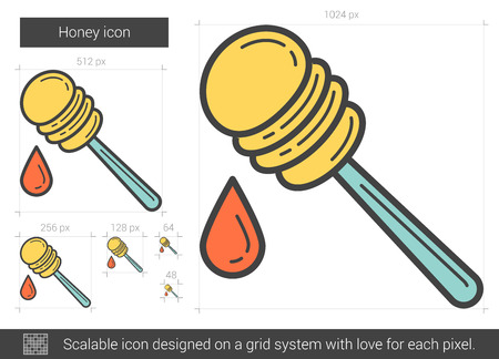 Honey line icon. Vector illustration. Illustration