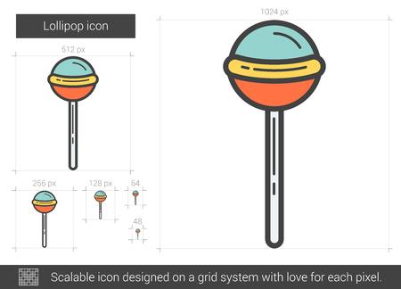 Lollipop line icon. Illustration