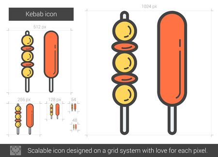 Kebab line icon.