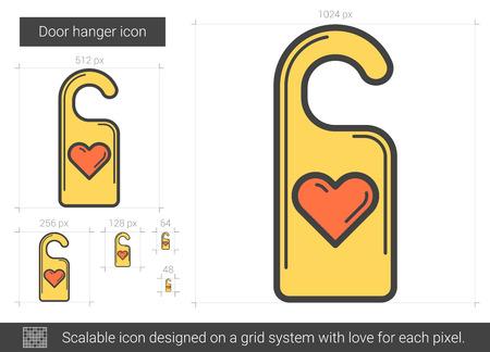 Door hanger line icon.