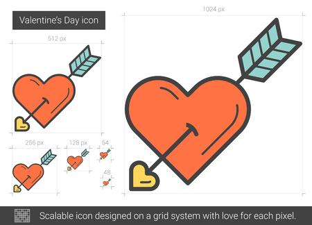 Valentine day line icon.