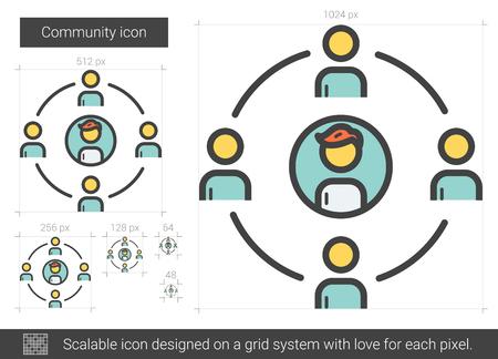 Community line icon.