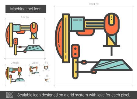 Machine tool line icon. Illustration