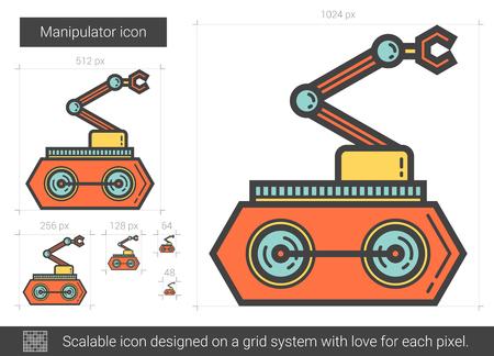 Manipulator line icon. Ilustracja
