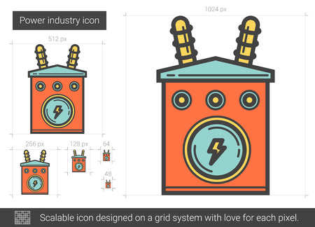 Power industrie lijn pictogram. Stock Illustratie