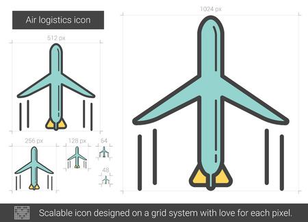 scalable: Air logistic line icon.