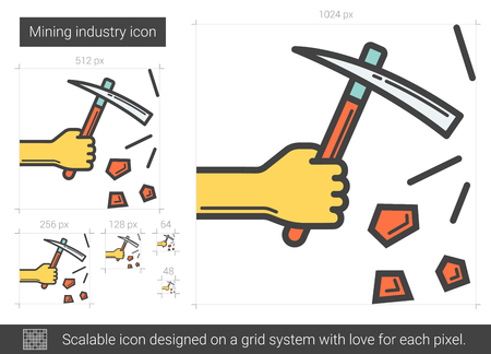 Mining industry line icon.