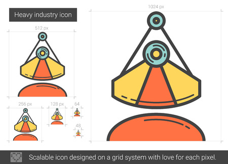 Heavy industry line icon.