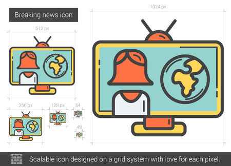 Breaking news line icon.