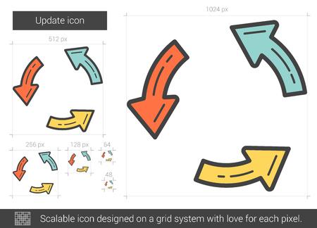 Update line icon. Vector illustration.
