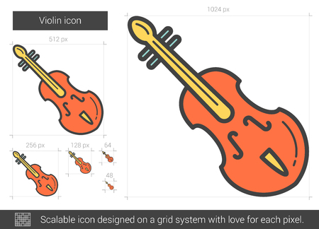 Violin line icon.