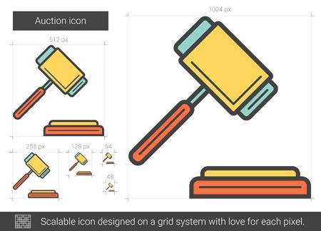 Auction line icon. Illustration