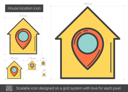 House location line icon. Illustration