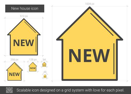 New house line icon.