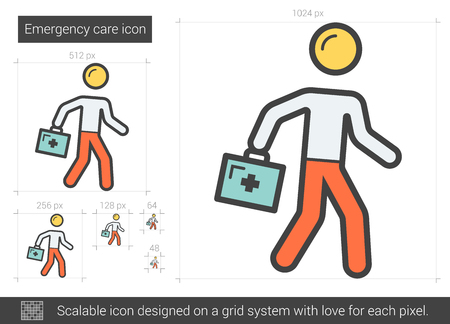Emergency Care Line icoon. Stock Illustratie