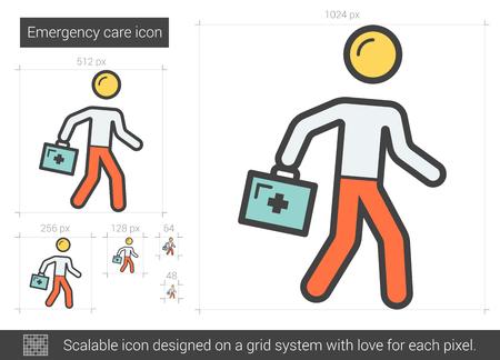 Emergency care line icon. Illustration