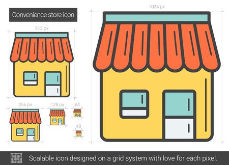 Convenience store line icon.