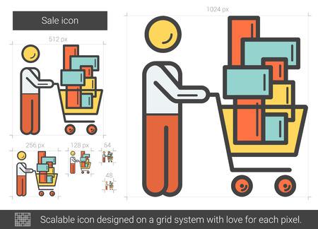 Sale line icon.
