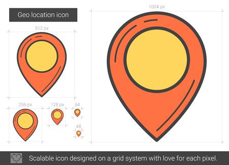 Geo location line icon.