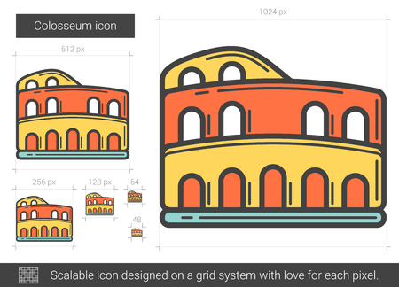 Colosseum line icon. Illustration