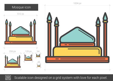 Mosque line icon. Illusztráció