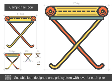 Camp-chair line icon.