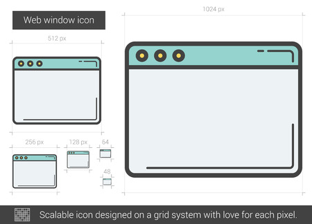 domain: Web line icon. Illustration