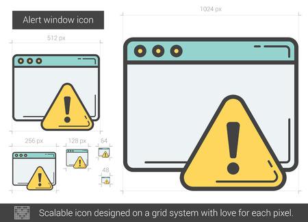 Alert window line icon. Illustration