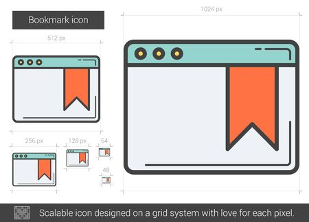 Bookmark line icon. Ilustrace