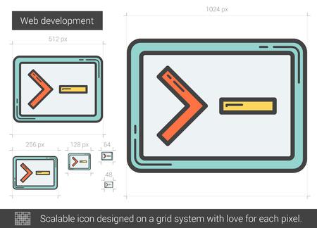 Web development line icon.