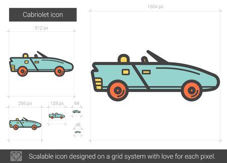 Cabriolet lijn icoon.